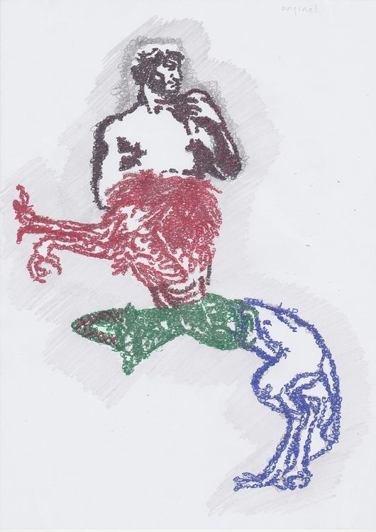 collage, illustration, fun, character - santicp | ello