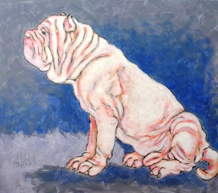 MASTINO BIANCO - painting, dog, neopolitanmastiff, - barakesculptor | ello