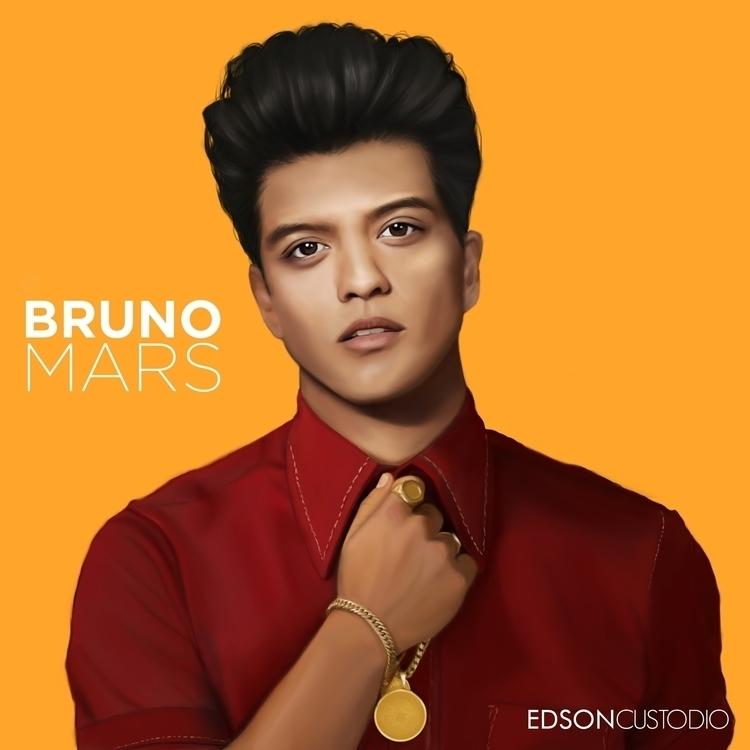 Bruno Mars - digitalart, digitalpainting - edsoncustodio | ello