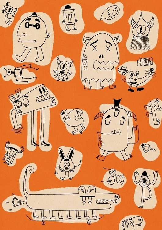 Orange pattern - patterndesign, weird - patino | ello