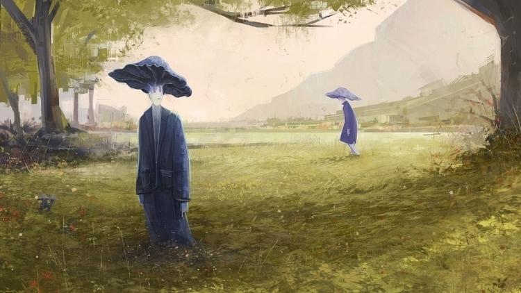 Sleeping mushroom - meadow, mushrooms - ricardcendra | ello