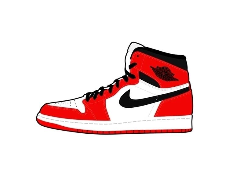 Personal Artwork Air Jordan 1 R - ianlusung | ello