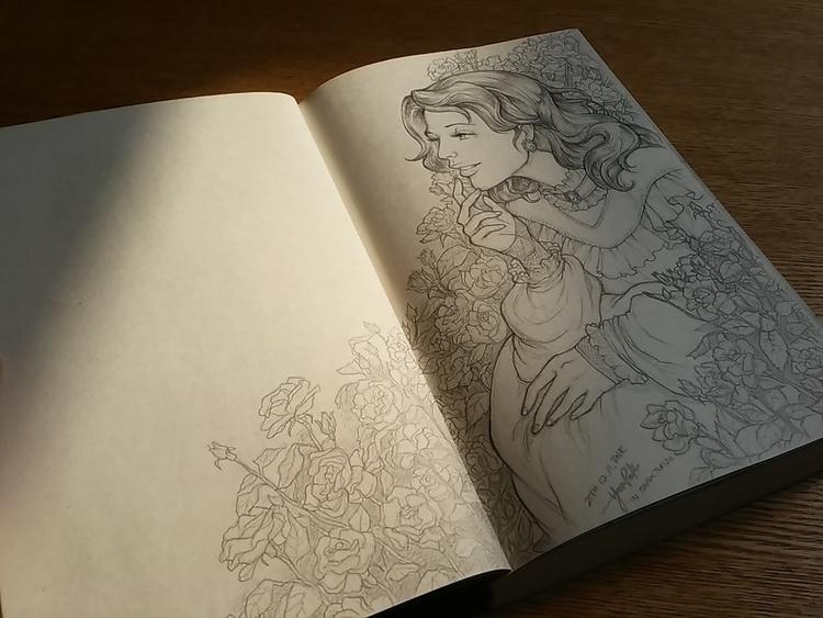 Pencil sketch 1-1 detail. loved - 4oclockvoyage | ello