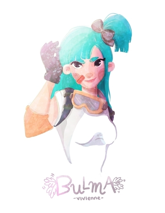 Bulma - Dagron Ball - illustration - viviennepretelt | ello