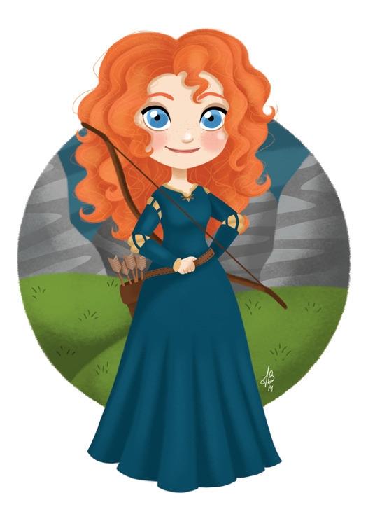 Princess Merida Brave - merida, brave - inesbarros | ello