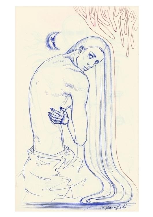 ' Weakness ballpointed pen draw - annaorca   ello