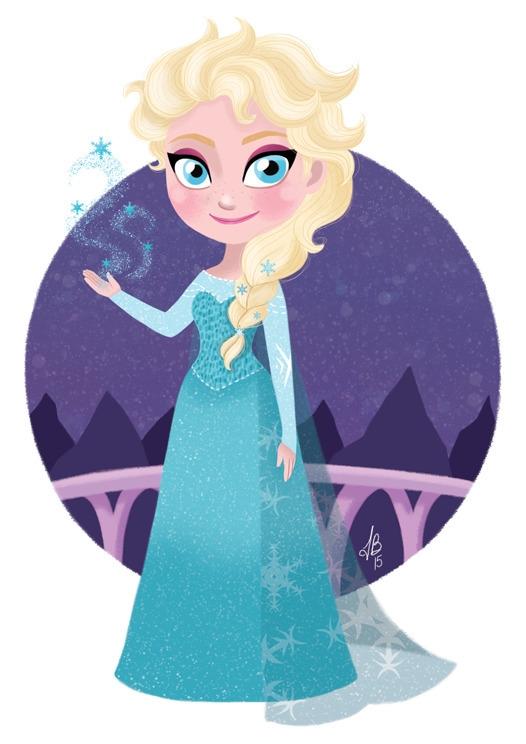 Queen Elsa Frozen - frozen, disney - inesbarros | ello
