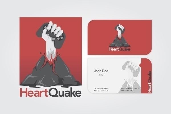 HeartQuake - logodesign, branding - riestagema | ello