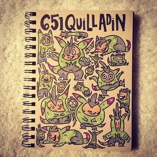 Quilladin - quilladin, pokemon, sketch - carolinedirector   ello