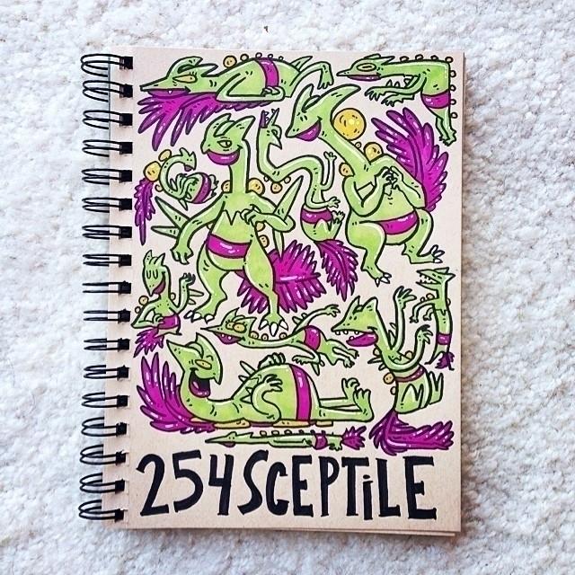 Sceptile - sceptile, sketch, illustration - carolinedirector   ello