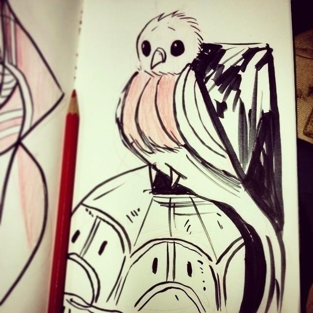 sketch, sketchbook, quetzal, bird - artsypabster | ello