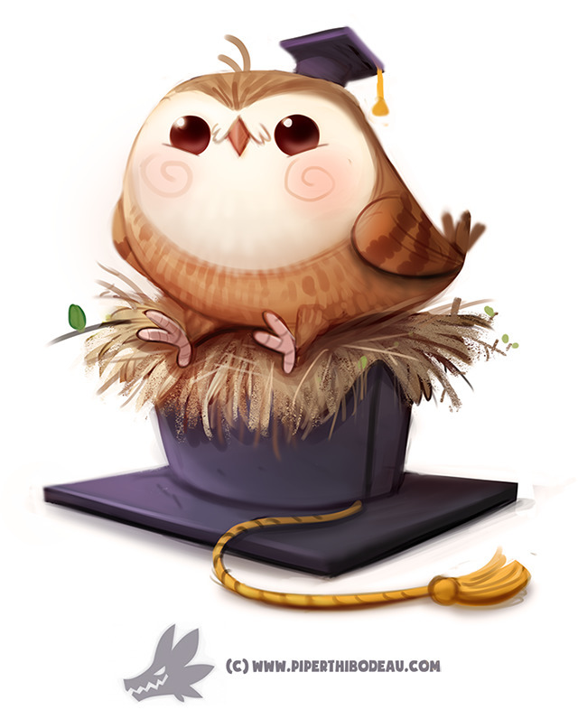 Daily Paint 1284. GradHOOated - piperthibodeau | ello