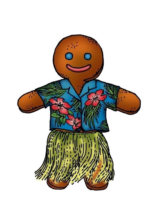 Gingerbread man hawaiian style - betka_past   ello