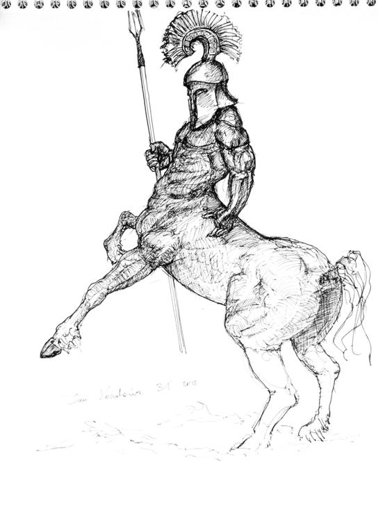 A2, Artpen 31 - centaur, sparta - jandraws | ello