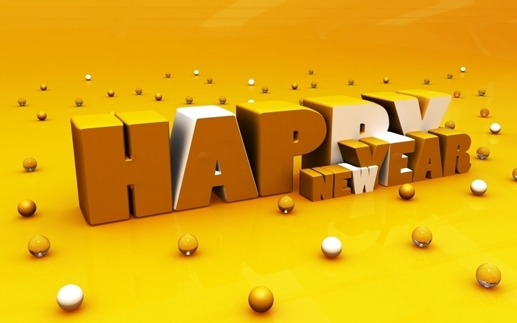Happy Year - conceptart, 3d, typography - aman_d_singh | ello