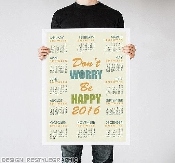 happy wall calendar - illustration - yaviki | ello