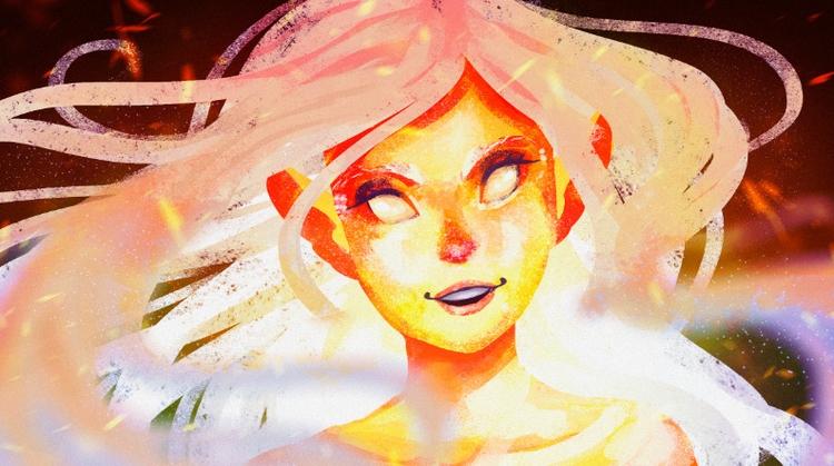 20 minutes sketch - fire, elf, magical - ladyalouette | ello