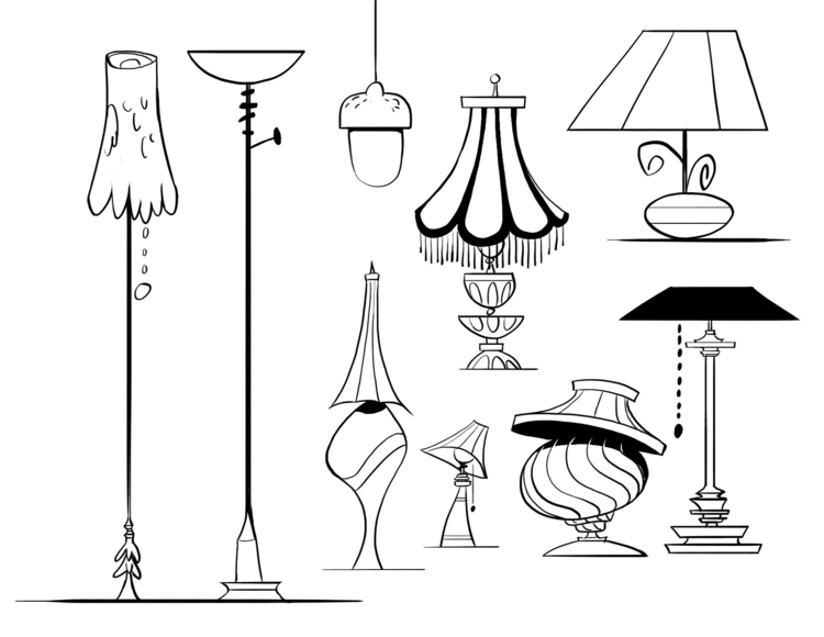lamps, cartoons, propdesign - willterrell | ello