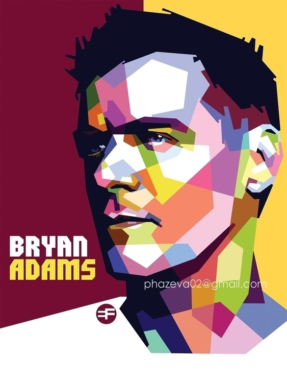 Bryan Adams WPAP - bryanadams, digitalart - phazeva02 | ello