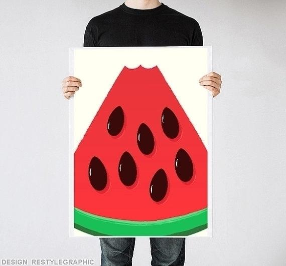 Watermelon art print - poster, posterdesign - yaviki | ello