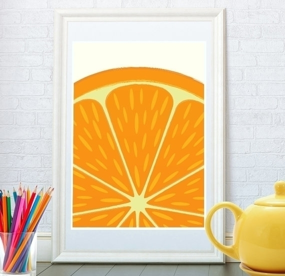 Citrus print Orange art - illustration - yaviki | ello