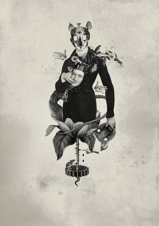 collage, digital, blackandwhite - carlie-4924 | ello
