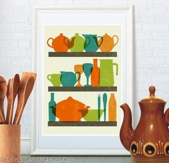 Tableware retro poster kitchen - yaviki | ello