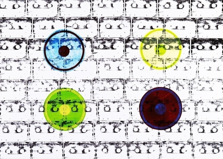 casette, speakers, monotype - miltoms | ello