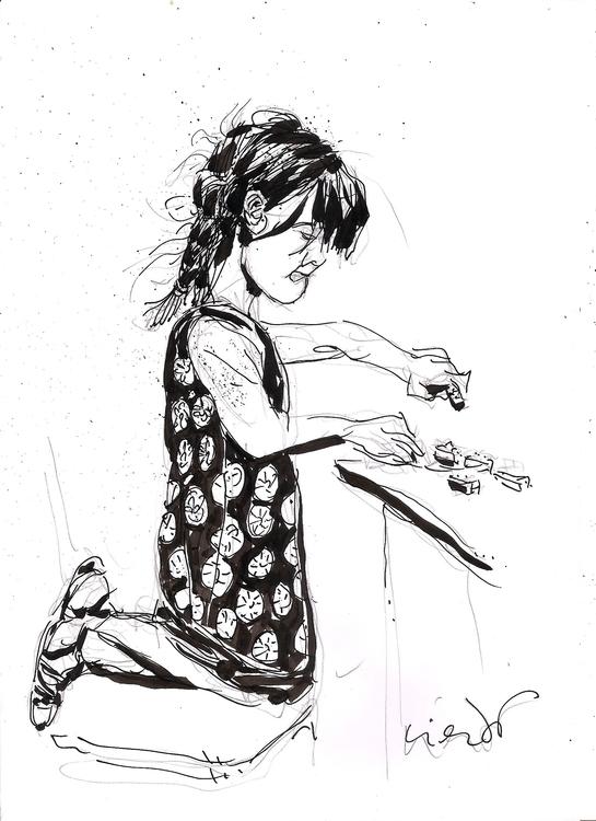 Paloma JUgando - children, penink - luisliendo | ello