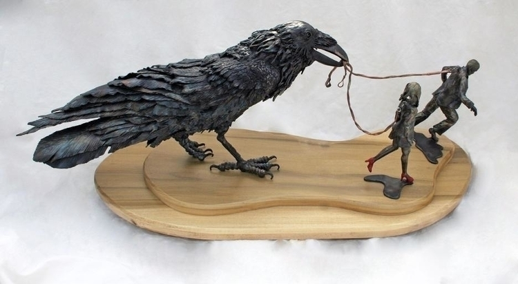 Control - #raven, #metalsculpture - eartheagleforge | ello