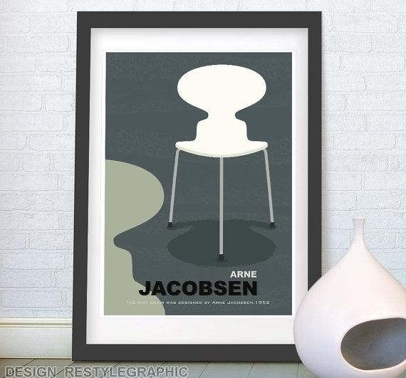 Chair Arne Jacobsen print - illustration - yaviki | ello