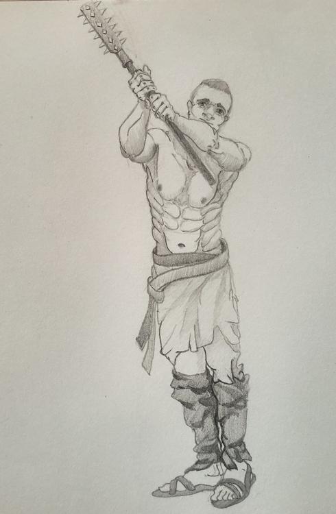 Barbarian - sketch, 2dart - ghostb | ello