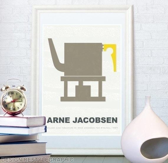 Teapot Arne Jacobsen print - illustration - yaviki | ello