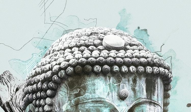 Buddha  - illustration#digitalart#design#characterdesign#photoshop#painting#davisvrworks#drawing#conceptart - kevinroodhorst | ello