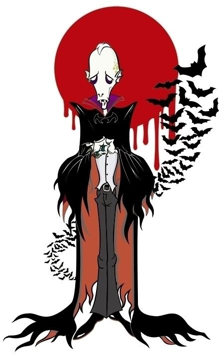 Vamp - vamp,vampire,vector,character - rose-1168 | ello