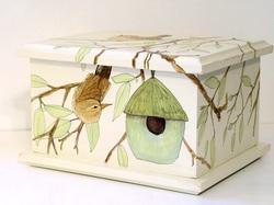 Hand Painted Keepsake Box - homedecor - whitefieldstudio   ello