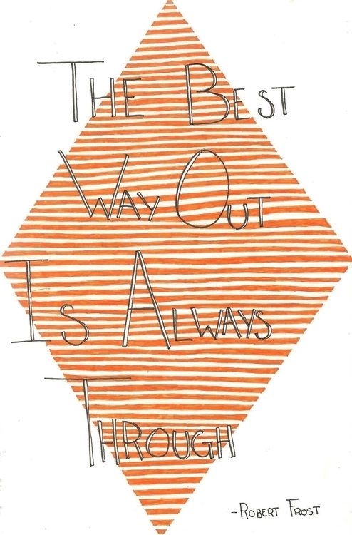 Robert Frost - illustration, quote - maggyswaggie | ello