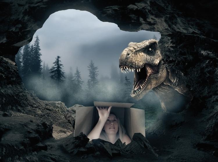 Thinking box - digitalart, dinosaur - graphicrule | ello
