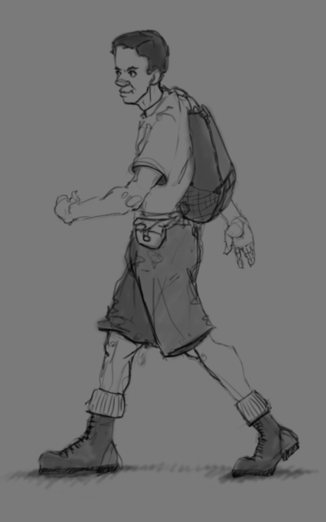 Scout guy sketch - scout, 2dart - ghostb | ello
