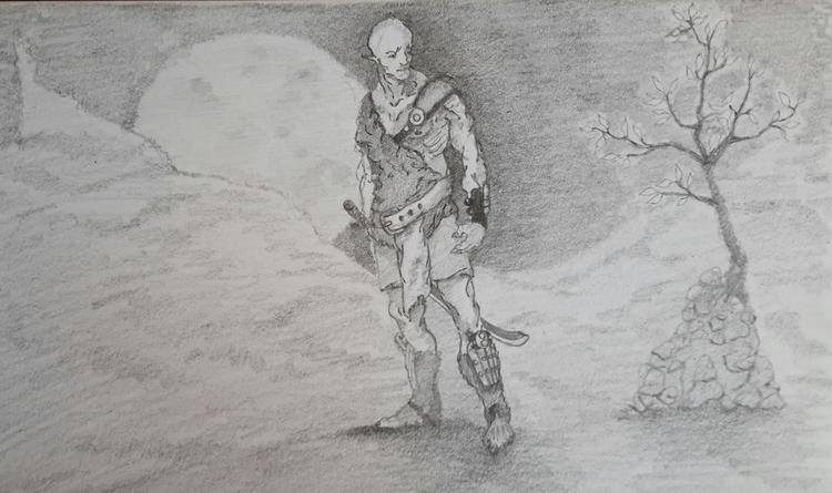 Wanderer sketch - wanderer, adventurer - ghostb | ello