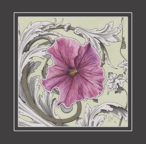 Renaissance flower - drawing, ornament - barbaroid | ello