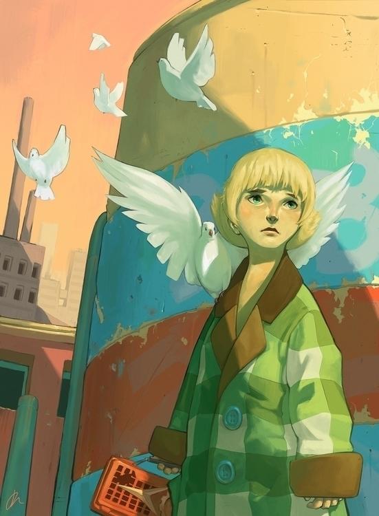 Metropolis (2000 - fanart, illustration - jon-6922 | ello