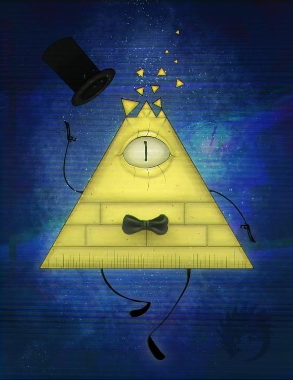 Bill Cipher Gravity Falls - illustration - reach-5958   ello