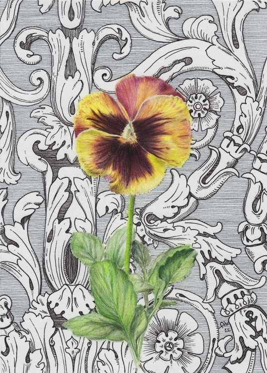 Flower classic mood - drawing, flower - barbaroid | ello