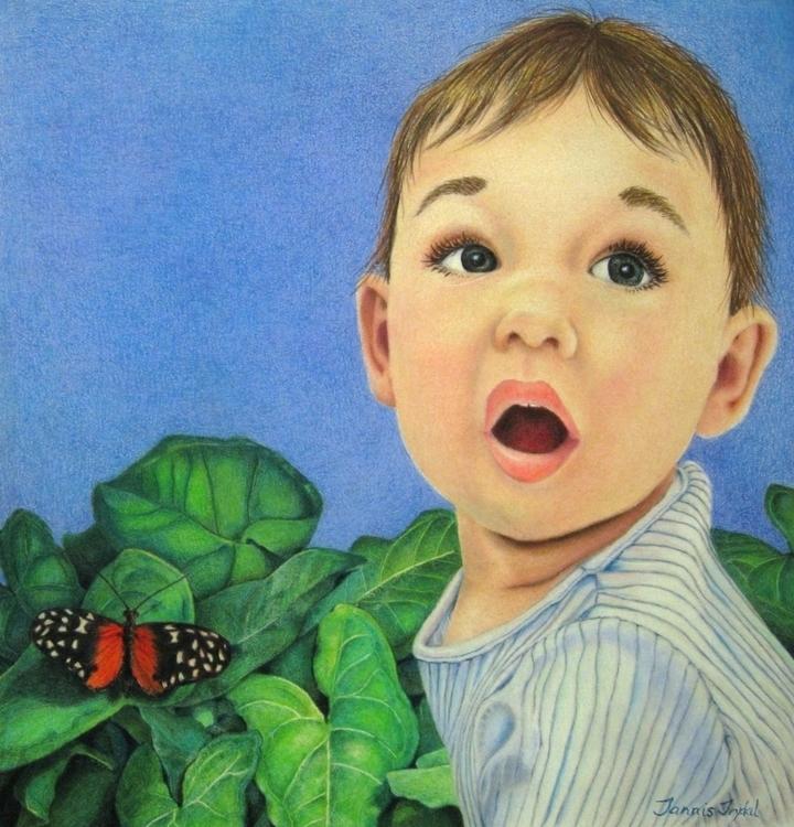 Butterfly 8x8 Colored pencil Ri - tannis-8715 | ello