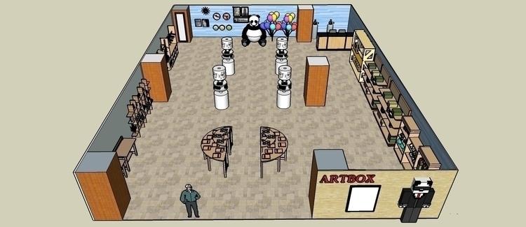 Proposed Artbox store (School a - syairahkimmy | ello