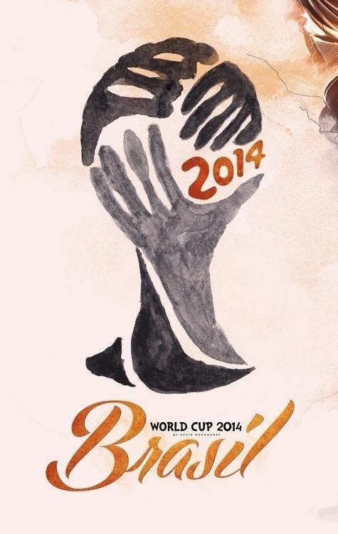 World Cup 2014 Brasil - illustration#digitalart#design#characterdesign#photoshop#painting#davisvrworks#drawing#conceptart - kevinroodhorst   ello