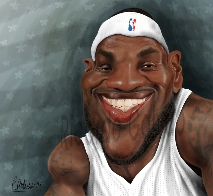 Lebron James - illustration, painting - rgalvao | ello