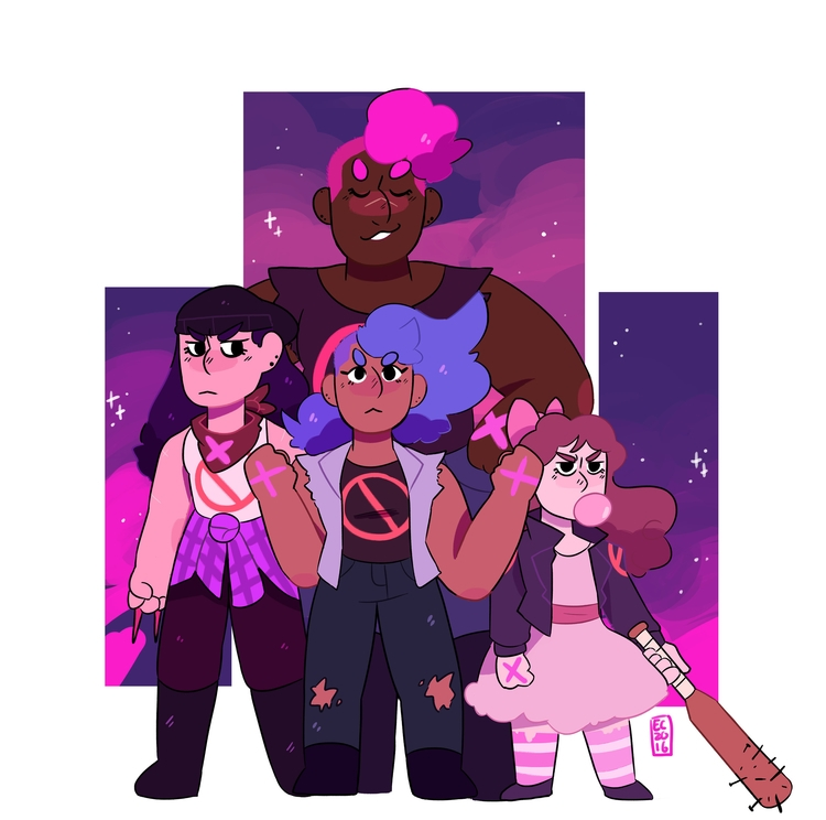 Girl Gang - originalcharacter, girlgang - fishyfrog | ello