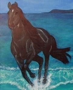 Night runner - painting - kiwi-1078 | ello